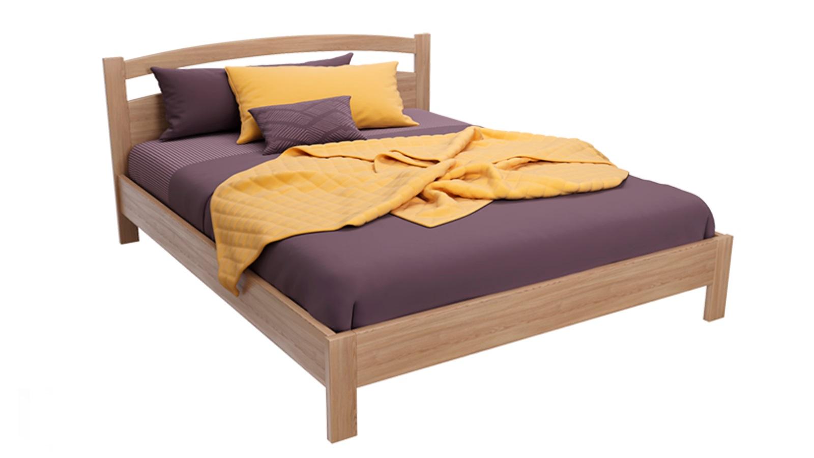 Кровать из массива Askona VESTA Light Venge тумба из массива askona vesta venge